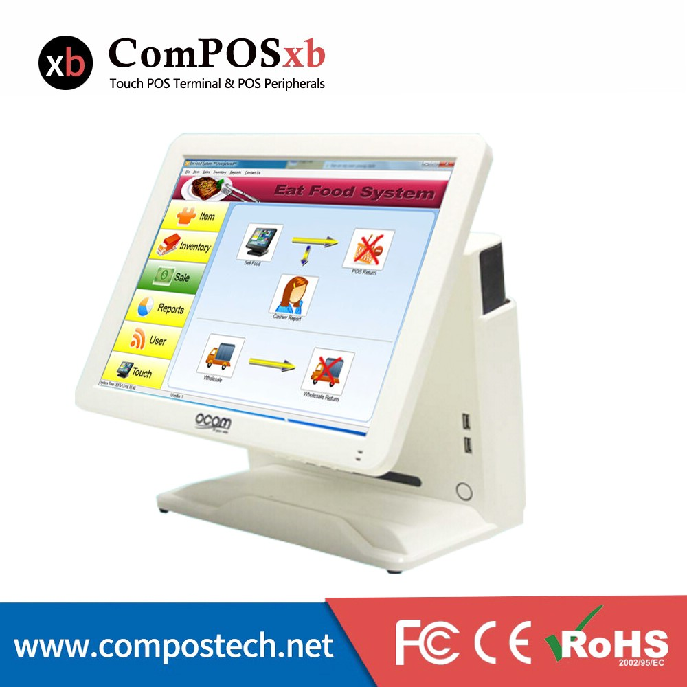 Restaurant touch screen Touch screen monitor pos software 15 inch all in one pos computer