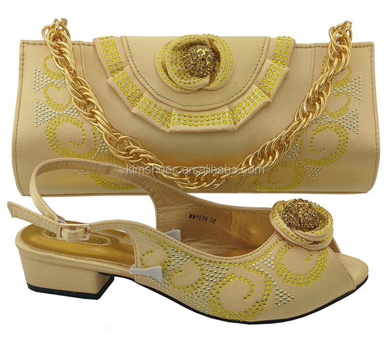 Shoe Shoes For Match Heel High Bag African Bags To Yellow With MM1039 High Italian Set And Party Quality Fashion Matching 7UxSwY
