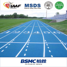 Guangzhou IAAF Certificate Synthetic Running Track Surface Material for 400 meters Stadium