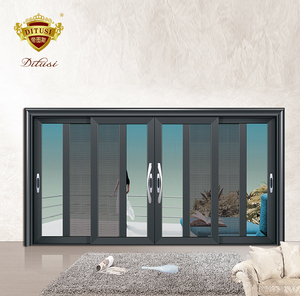 factory price exterior glass sliding door tempered glass door with Aluminum
