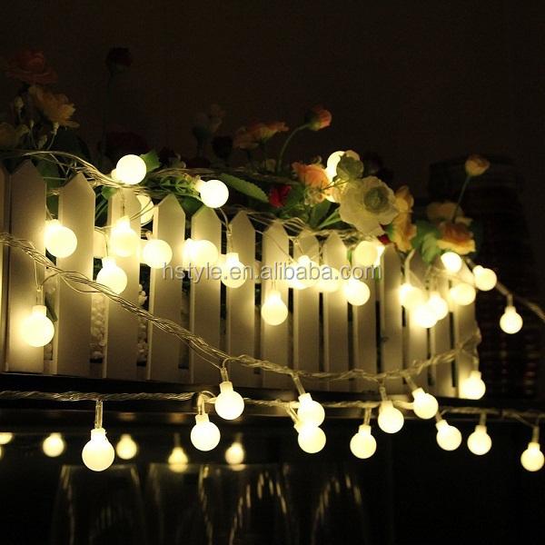 100 Led Ball String Lights 230v Globe Outdoor Lights For Garden ...