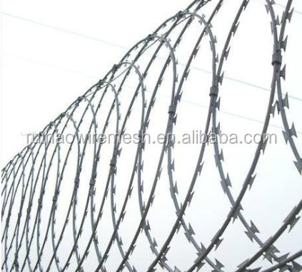 Galvanized Decorative Barbed Wire Fencing, Galvanized Decorative ...
