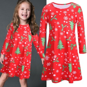 Z92034A 2016 Hot selling clothing mother and daughter matching dresses for christmas