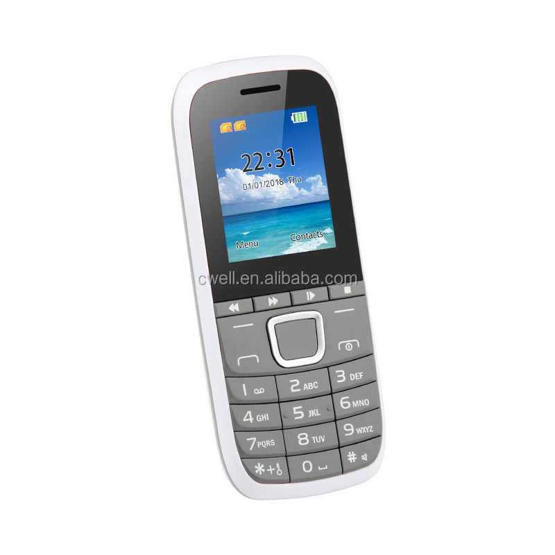 Hot Sale Feature 2G GMS Camera Econ Mobile Phone 1.77 inch Support FM Bluetooth