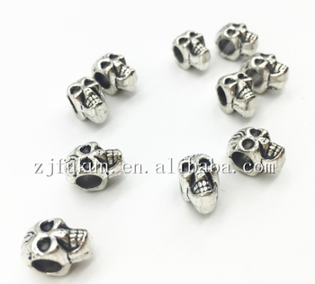 12 7mm Antique Metal Alloy 3d Skull Charms Jewelry Skull Beads