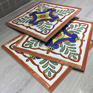 China factory supply hand painted terracotta tiles