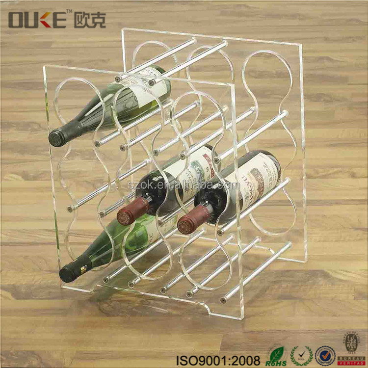 Fashion design di plastica bar liquor acrilico wine bottle holder/stand con prezzo EXW