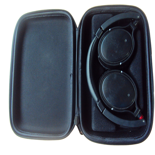 Wholesale high quality black hard eva earphone carrying case