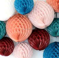 Hot selling Tissue Paper Honeycomb Ball handmade hanging paper lantern For decorative festival Wedding & Birthday Party YH001