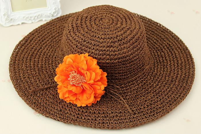Primavera e verão moda senhora bonita chapéu feminino chapéu de crochê ... 32ed5024fad
