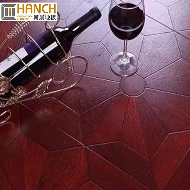 Hot Import Export Red Floor Wood Indoor Laminate Parquet Flooring Dark Engineered
