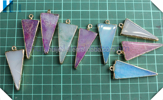 triangle shape pendant triangle stone pendant