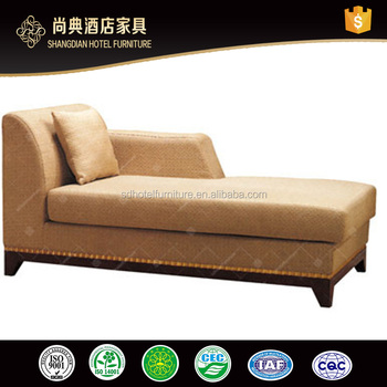 Hotel Living Room Furniture Type Simple Chaise Lounge Chair With Armrest