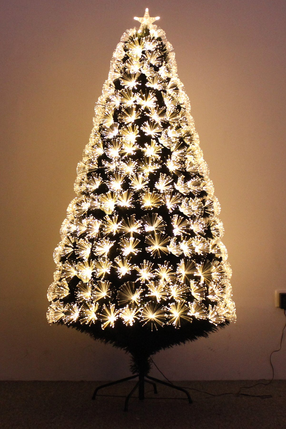 clearance sale pre lit christmas tree golden star sparkling fiber optic artificial christmas tree - Where To Buy Cheap Christmas Tree