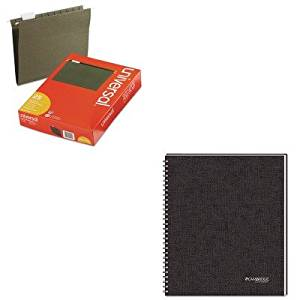 KITMEA06062UNV14115 - Value Kit - Mead Cambridge 1-Subject Wirebound Business Notebook (MEA06062) and Universal Hanging File Folders (UNV14115)