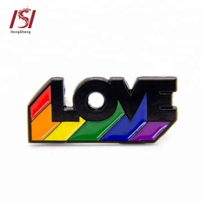 wholesale gay pride rainbow LOVE LGBT lapel pin badge