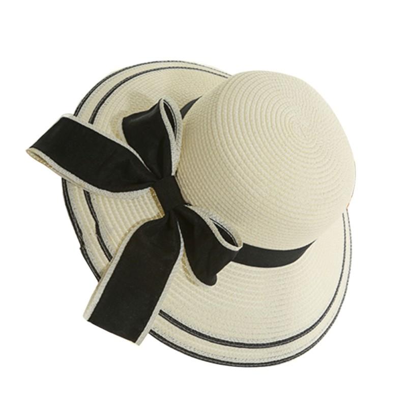 Compre Lady Boater Sun Caps Fita Redonda Flat Top Chapéu De Palha ... 37a19488f61