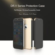 ROCK Dr.v Series Flip Case for iPhone 7 7 plus Slim phone back cover housing with full screen protective easy answer call