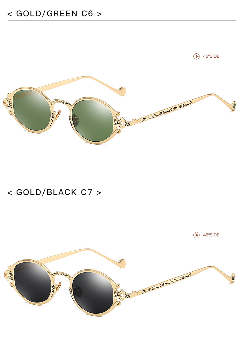 HJ BA-NEW004 Fashion Rock Retro oval Steampunk Sunglasses Vintage Gothic punk style for Man and Women sunglasses
