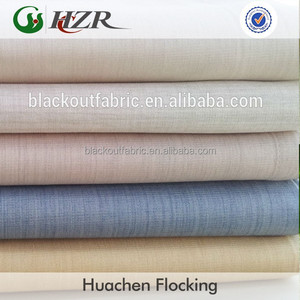 Stock lots 4 passes PA coated completely blackout curtain fabric