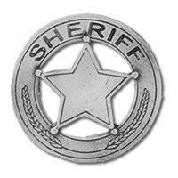 Sheriff badge biker Pin biker leather jacket, vest,
