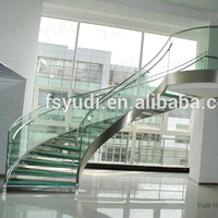 Prefabricated used curved stair case design -YUDI