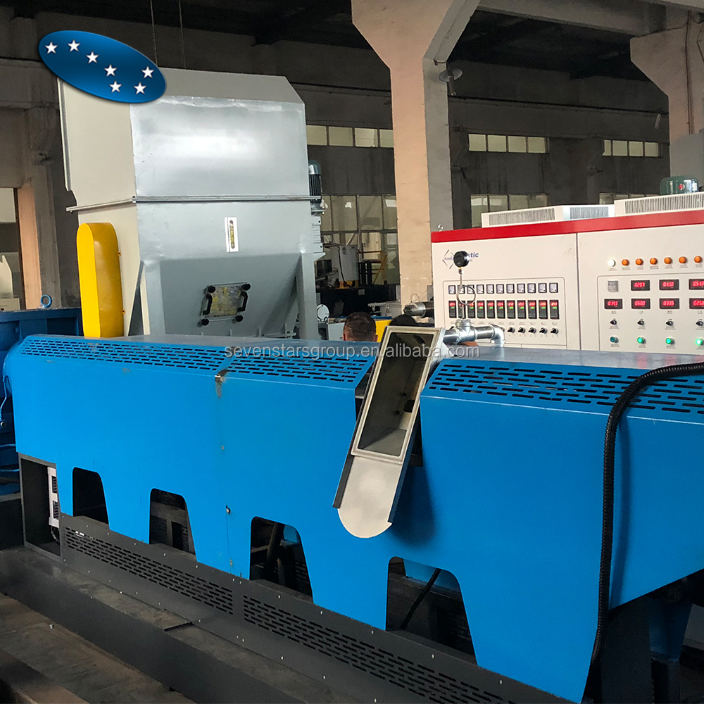 Two stage force feed Recycling pelletizing machine for LDPE PP PE and LLPE film
