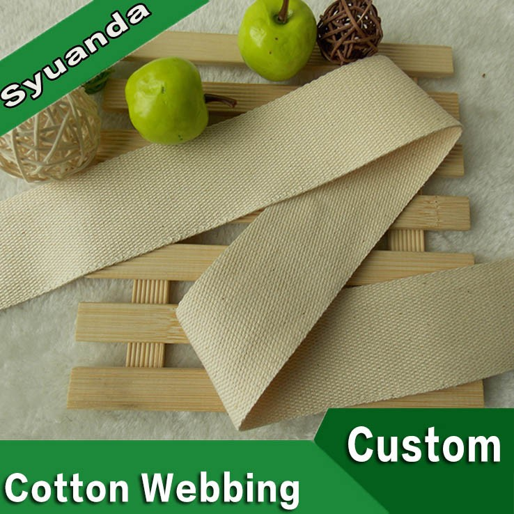 2 inch Wide Custom Wholesale Cotton Woven Webbing Bag Straps
