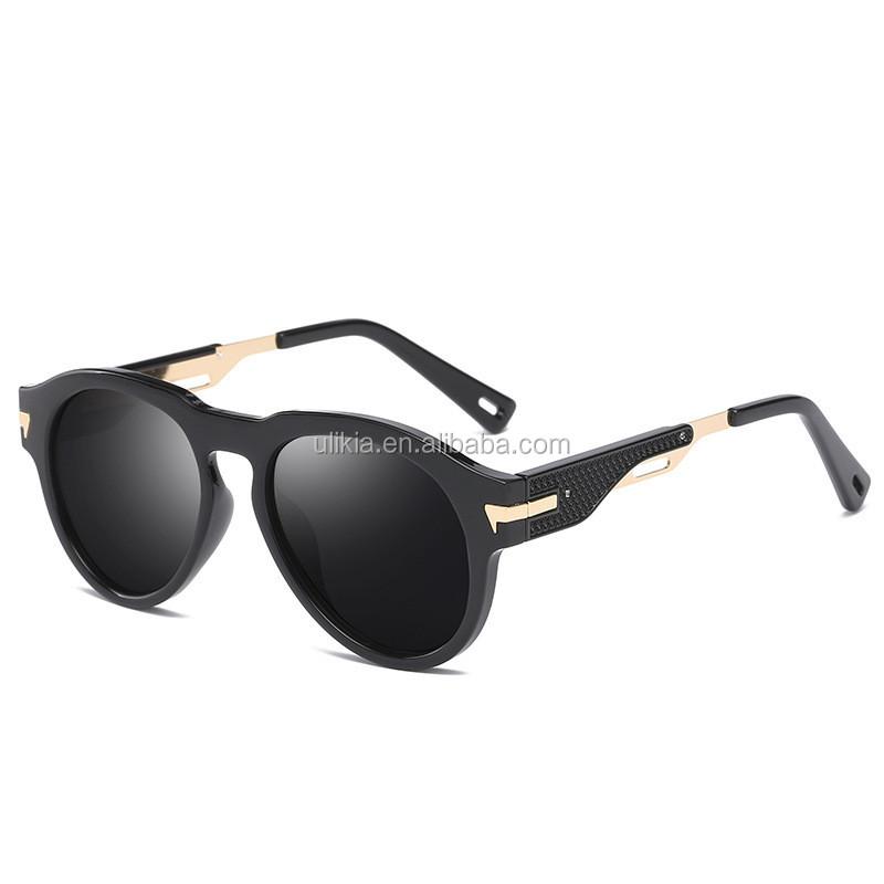 e2ddf9fa9bb48c Rétro Polaroid lunettes de Soleil Conduite Polarisées Lunettes Hommes  Steampunk 2018
