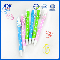 factory wholesale plastic ball point pen with doll