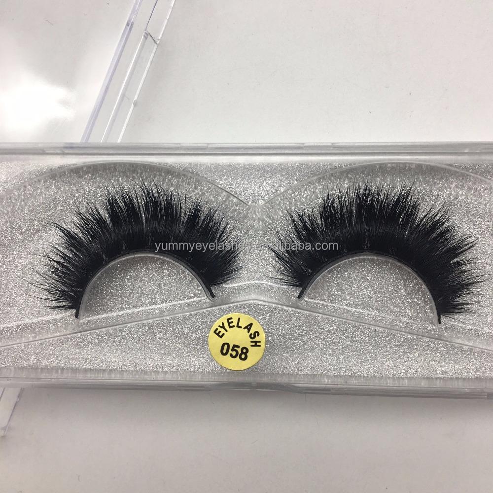 Wholesale 3d Mink Eyelashes With Custom Glitter Luxury 3d Mink False