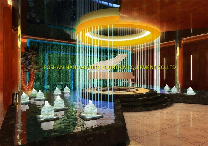 artificial decorativo moderno cristal pared de agua bailando msica fuentes interior cascada artificial decoracin fuente