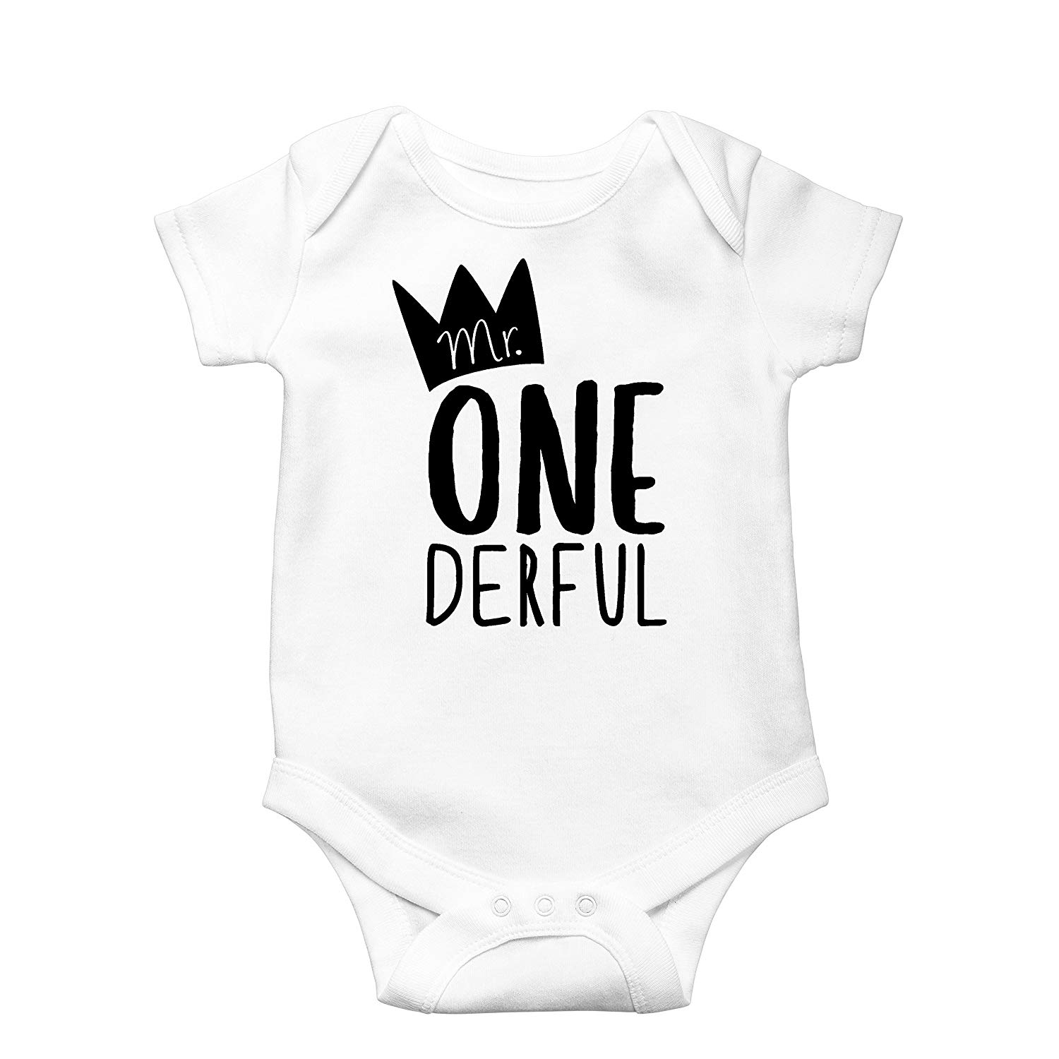 c659a4e64 Get Quotations · Mr One-Derful Baby Boys 1st Birthday Bodysuit First  Birthday Outfit for Boys