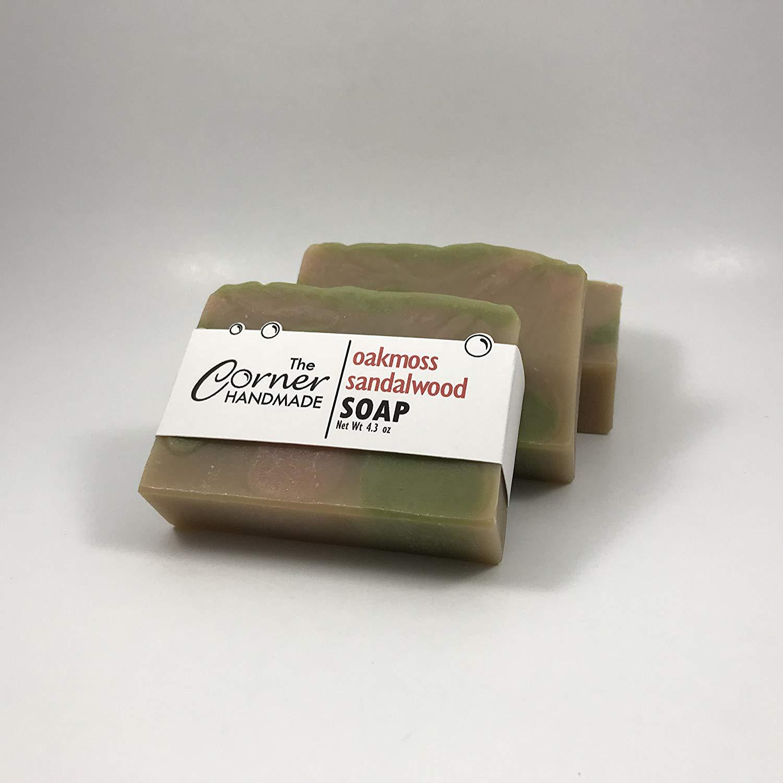 Oakmoss Sandalwood Soap, Clay Soap Bar, Shea Butter Soap, Hand Poured Soap, Gift Soap, Mens Bar