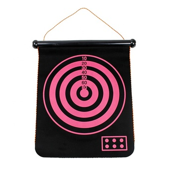 Indoor Multi Color Two Sides Magnetic  Dart Board With 6 Safety Dart