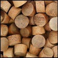 "WIDGETCO 3/8"" Mahogany Wood Plugs, End Grain"