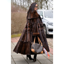 2019 Nieuwe <span class=keywords><strong>Mode</strong></span> Vrouwen Warm Geverfd Real Mink Fur Coat Lange Winter Echt <span class=keywords><strong>Bont</strong></span> Jas