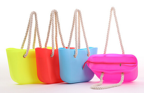 2015 Colorful Silicone Beach Bag For Women Handbag - Buy Silicone ...