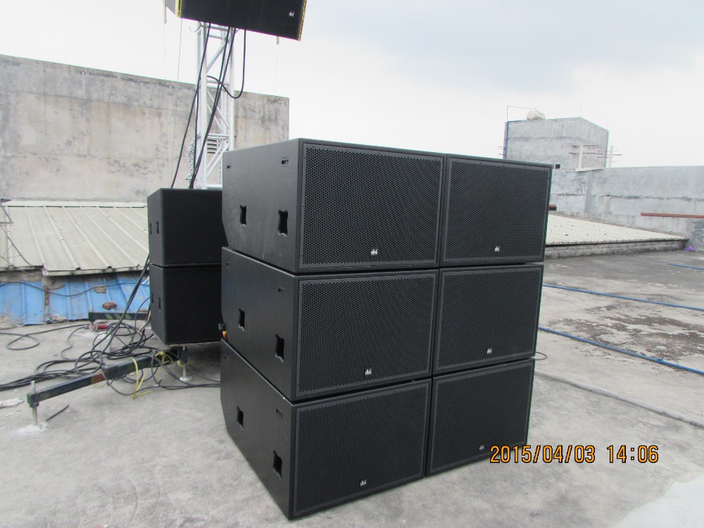 new style 2*18 subwoofer speaker box SW-528/dj bass speaker outdoor sound system from guangzhou