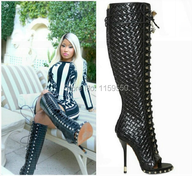 Wholesale Nicki Minaj Celebrity Lace Up Thigh High Fashion