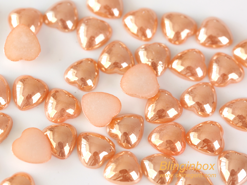 Factory teardrop shape 6*10mm hot fix ceramic pearl rhinestone for garment decoration