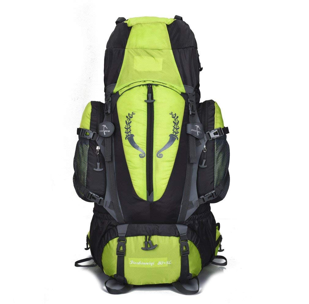 KEXKL 80+5L Outdoor Backpack Unisex Large Mountaineering Backpack Waterproof Nylon Bags Climbing Hiking Camping Rucksack one Other