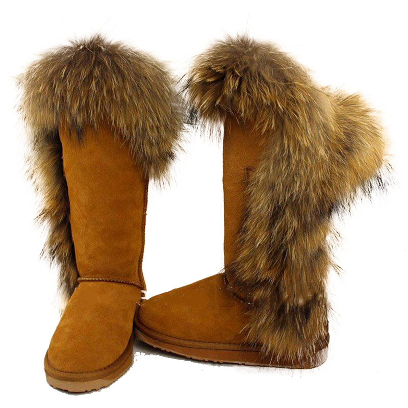 Buy Promotion Womens Knee High Boots 2015 Fashion Genuine Leather Real  Natural Fox Fur Snow Boots Ladies Winter Shoes Woman Big Size in Cheap  Price on ... 1ee577e86f
