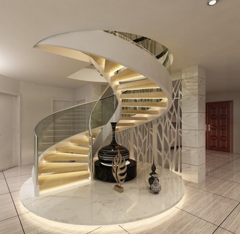 Space Saving Round Stair Case Round Stairs With Glass