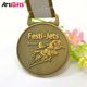 Antique gold custom metal carnival medal