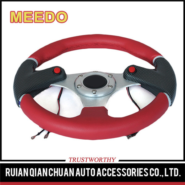 Nitrogen modified automotive Interior performance steering wheel with two control push button
