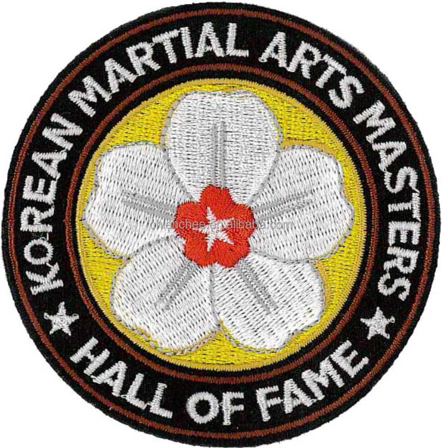 Embroidery Emblems - Iron-on Beautiful Flower Logo for Martial Arts Clothing (Patch/Emblem/Badge/Label/Crest/Insignia)