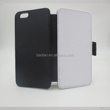 Newest blank sublimation leather flip case for i6 4.7inch