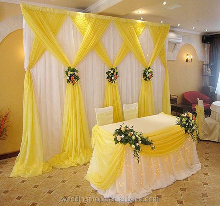 Customize Romantic Backdrop Curtain Drape Fabric Wedding Hall