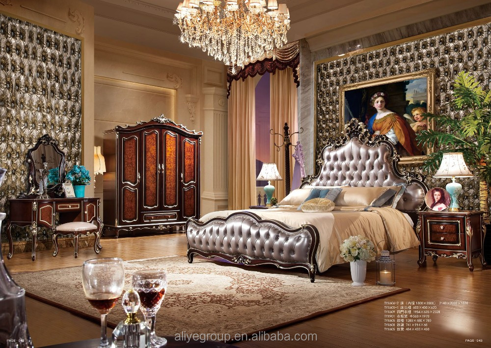 tx606 2 antique europ ischen stil massivholz k niglichen kingsize bett klassische schlafzimmer. Black Bedroom Furniture Sets. Home Design Ideas